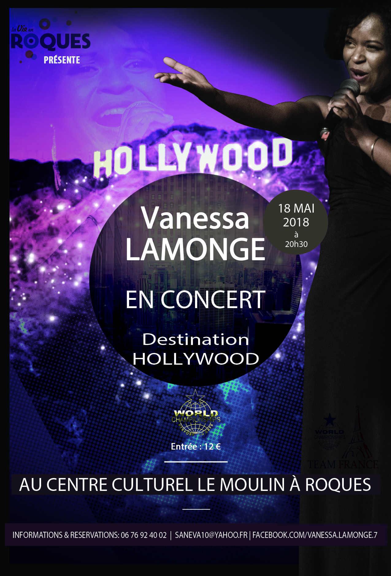 Vanessa Lamonge en concert: Destination Hollywood!