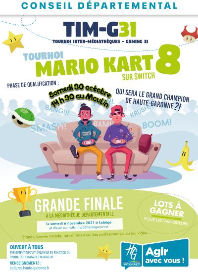 Tournoi Mario Kart 8 sur Nintendo Switch